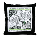 Three Linear Roses Throw Pillow