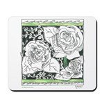 Three Linear Roses Mousepad
