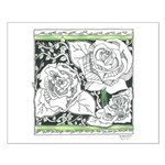 Three Linear Roses Small Poster
