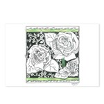 Three Linear Roses Postcards (Package of 8)