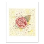 Pointillism Rose Small Poster