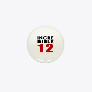 Incredibla 12 Birthday Mini Button