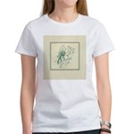 Green Rose with Border Women's T-Shirt