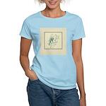 Green Rose with Border Women's Light T-Shirt