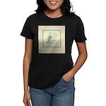 Green Rose with Border Women's Dark T-Shirt