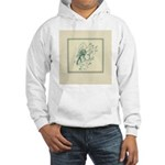 Green Rose with Border Hooded Sweatshirt