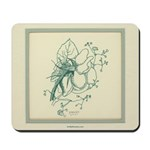 Green Rose with Border Mousepad