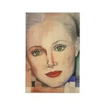 Portrait of A Lady Rectangle Magnet (100 pack)