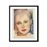 Portrait of A Lady Framed Panel Print