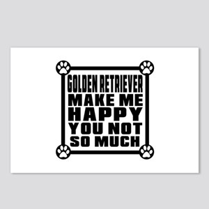 Golden Retriever Dog Make Postcards (Package of 8)