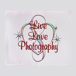 Live Love Photography Throw Blanket