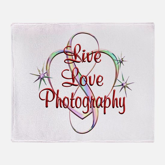 Live Love Photography Throw Blanket
