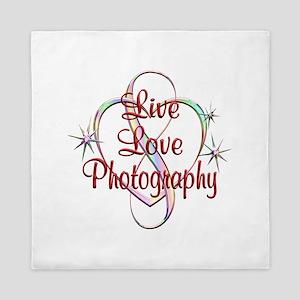 Live Love Photography Queen Duvet