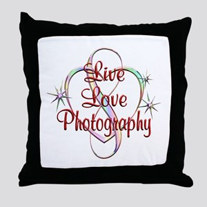 Live Love Photography Throw Pillow