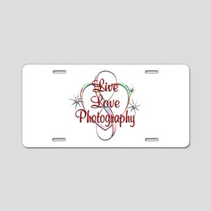 Live Love Photography Aluminum License Plate