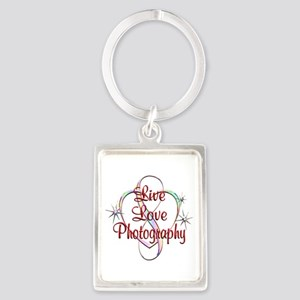 Live Love Photography Portrait Keychain