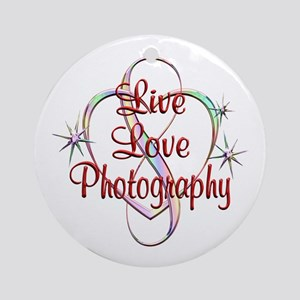 Live Love Photography Round Ornament