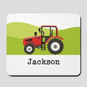 Personalized Red Tractor Mousepad