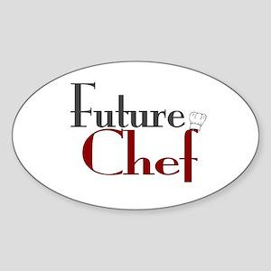 Future Chef Oval Sticker