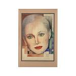 Portrait of A Lady (border) Rectangle Magnet (100