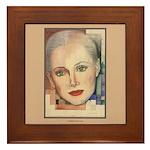 Portrait of A Lady (border) Framed Tile