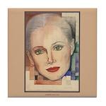 Portrait of A Lady (border) Tile Coaster