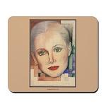 Portrait of A Lady (border) Mousepad