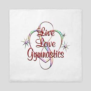 Live Love Gymnastics Queen Duvet