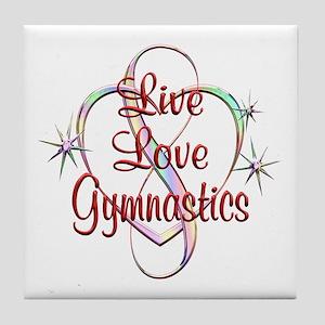 Live Love Gymnastics Tile Coaster