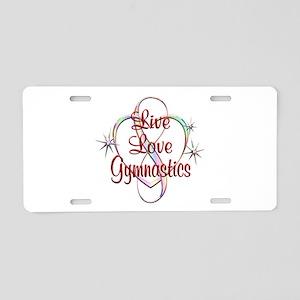 Live Love Gymnastics Aluminum License Plate