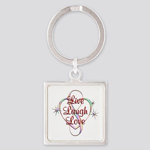 Live Laugh Love Square Keychain