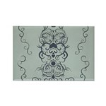 Papercut: Blue on Blue Rectangle Magnet (100 pack)