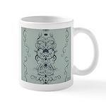Papercut: Blue on Blue Mug
