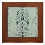 Papercut: Blue on Blue Framed Tile
