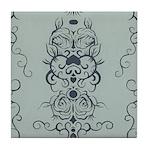 Papercut: Blue on Blue Tile Coaster
