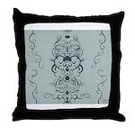 Papercut: Blue on Blue Throw Pillow