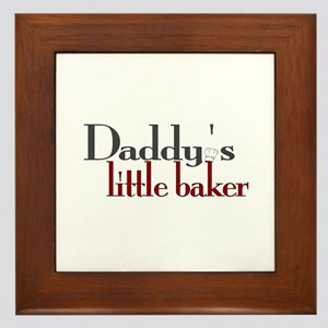 Daddy's Little Baker Framed Tile