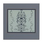 Papercut: Blue (border) Tile Coaster