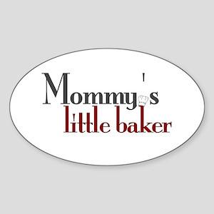 Mommy's Little Baker Oval Sticker