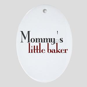 Mommy's Little Baker Oval Ornament