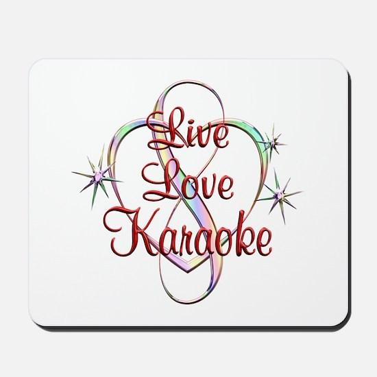 Live Love Karaoke Mousepad