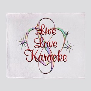 Live Love Karaoke Throw Blanket