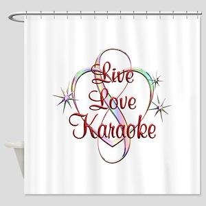 Live Love Karaoke Shower Curtain