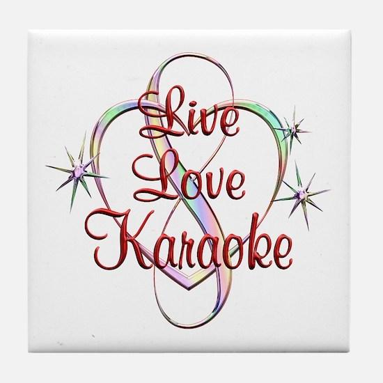 Live Love Karaoke Tile Coaster