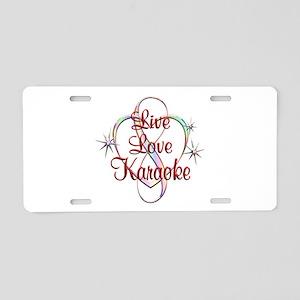 Live Love Karaoke Aluminum License Plate