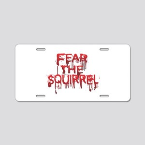 Fear Aluminum License Plate