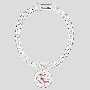 Live Love Line Dance Charm Bracelet, One Charm
