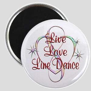 Live Love Line Dance Magnet