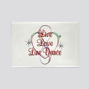 Live Love Line Dance Rectangle Magnet