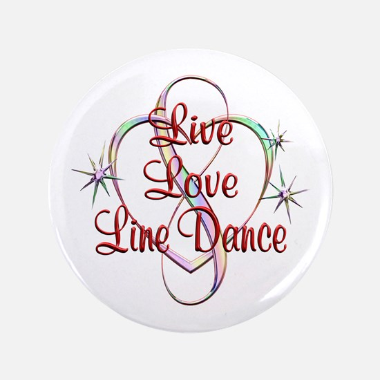 Live Love Line Dance Button